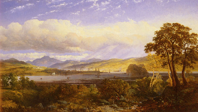 Niemann Edmund John A View Of Dumbarton From The Clyde River