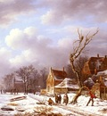 Noter Pierre Francois de Gathering Wood In A Winter Landscape