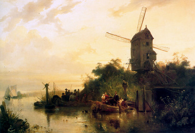 Nuyen Wijnand Waterland with mill Sun