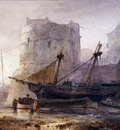 Nyen Wijandus Ships in a French harbour Sun