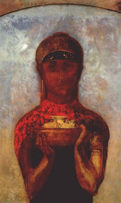 redon the chalice of mystery c1890