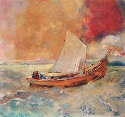 redon yellow boat c1910