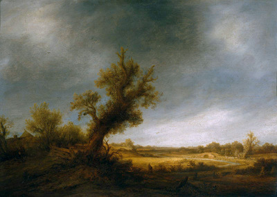 Ostade van Adriaen Landscape with an old oak Sun