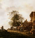 Ostade van Isaack Travellers outside an Inn Sun