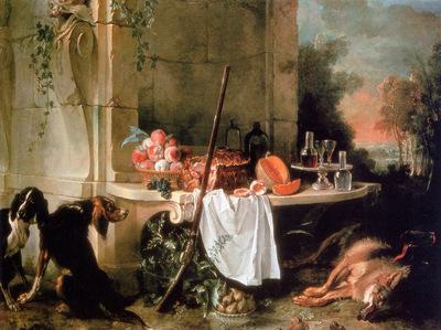 Oudry Jean Baptiste The dead wolf Sun