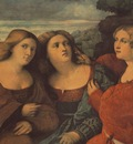 PALMA VECCHIO THE THREE SISTERS DETAIL , DRESDEN