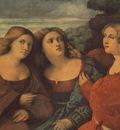 PALMA VECCHIO THE THREE SISTERS DETAIL , DRESDEN