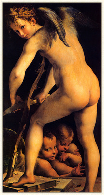 bs Parmigianino Amor Carving His Bow