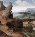 PATENIER Joachim Landscape With The Flight Into Egypt