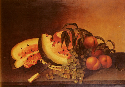 Peale Rubens Still Life With Watermelon