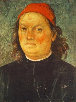 perugino ornamentation of the cambio self portrait, ca