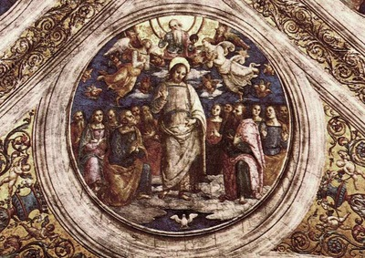 perugino pietro the holy trinity and the apostles 1507