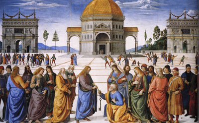 Perugino The Betrothal of the Virgin2