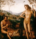 Perugino Apollo and Marsyas, ca 1495, 39x29 cm, Louvre