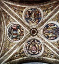 perugino pietro the ceiling with four medallions 1507