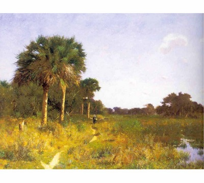 fl art006 midwinter florida william lamb picknell