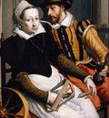 Pietersz Pieter Man and woman at spinningwheel Sun