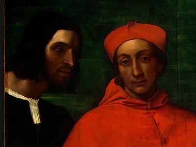 piombo,del cardinal bandinello sauli, his secretary, and t