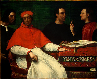PIOMBO,DEL CARDINAL BANDINELLO SAULI, HIS SECRETARY, AND TWO