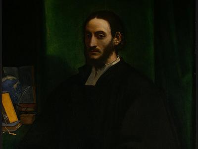 PIOMBO,DEL PORTRAIT OF A HUMANIST, C  1520, DETALJ, NGW
