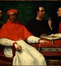 PIOMBO,DEL CARDINAL BANDINELLO SAULI, HIS SECRETARY, AND TWO