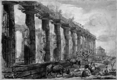 Piranesi Giovanni Temple in Paestum Sun