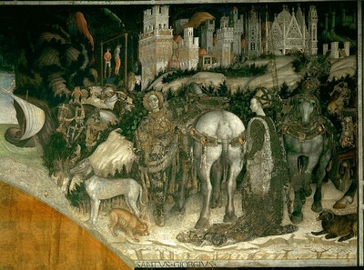 Pisanello St George and the Princess of Trebizond, 1422 38,
