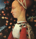 Pisanello Portrait of Ginerva dEste, 1438, panel painting,