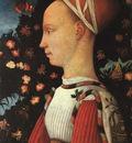 Pisanello Portrait of Ginerva dEste, 1438, panel painting,