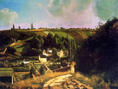 Pissaro Camille Hill of Jallais at Pontoise Sun