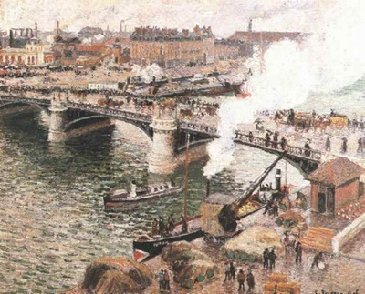 Pissarro Bouidieu Bridge, Rouen, Damp Weather, 1896, Art gal