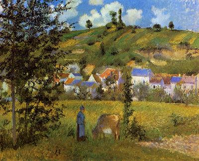 Pissarro Camille Chaponval landscape Sun