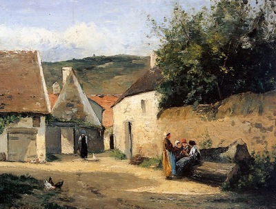 Pissarro Camille Jacob Coin de village Sun