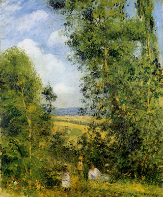 Pissarro Camille Resting in the woods Pontoise Sun