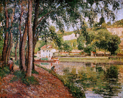 Pissarro Camille Road along the Loing canal Sun
