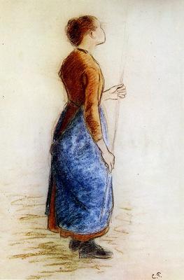 Pissarro Camille Study for the apple picker Sun