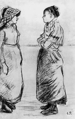 Pissarro Camille Study for the cat Sun