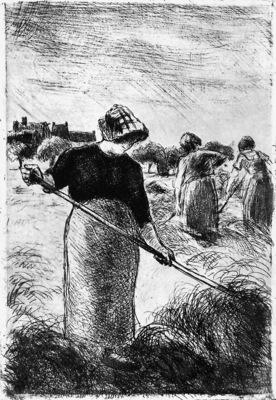 Pissarro Camille The hayymaker Sun