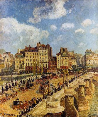 Pissarro Camille The pont Neuf Sun