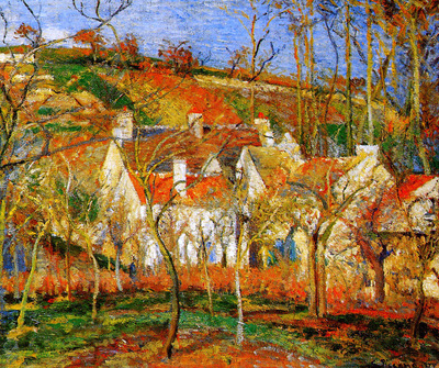 Pissarro Camille The red roofs Sun