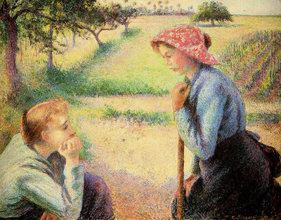 Pissarro Camille The talk Sun