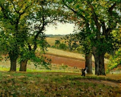 Pissarro Les chataigniers a Osny, ca 1873, 65x81 cm, Private