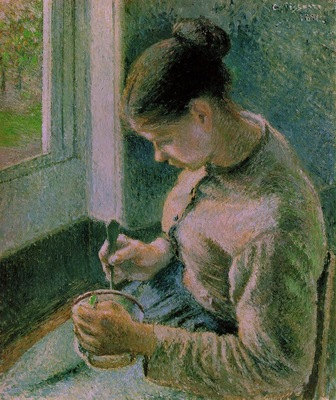 Pissarro Peasant girl drinking her coffee, 1891, 65 3x54 8 c