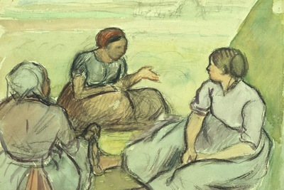 three peasant women, pissarro, 1890 1600x1200 id