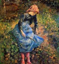 Pissaro Camille The shepherdess Sun