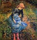 Pissaro Camille The shepherdess Sun