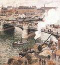 Pissarro Bouidieu Bridge, Rouen, Damp Weather, 1896, Art gal