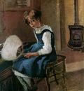 Pissarro Camille Jeanne Holding a fan Sun