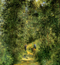 Pissarro Camille Path in the woods in summer Sun