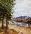 Pissarro Camille Pontoise banks of the Oise Sun